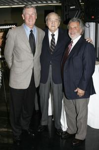 Robert Rehme, Karl Malden and Sid Ganis at the dedication of Barrington Station Post Office.