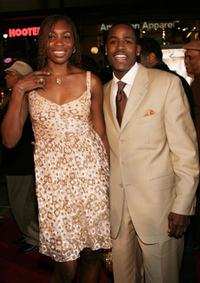 Venus Williams and Jackie Long at the premiere of