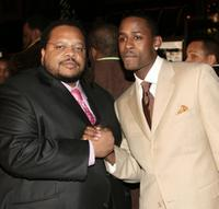 Director Chris Robinson and Jackie Long at the premiere of