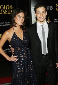 Mizuo Peck and Rami Malek at the premiere of