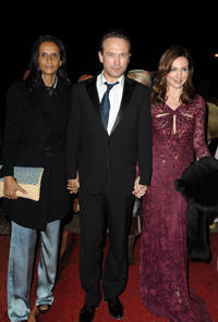 Carine Silla, Laurent Malet and Elsa Zylberstein at the Dior party during the 10th Marrakech Film Festival in Morocco.