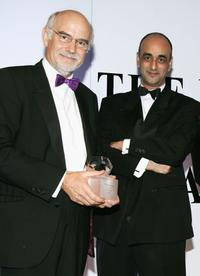 Trevor Kavanagh and Art Malik at the Press Association Annual Awards.