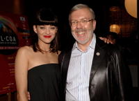 Leonard Maltin and Marion Cotillard at the opening night reception at the 11th annual City of Lights, City of Angels French Film Festival.