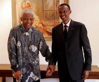 Nelson Mandela and Paul Kagame at the Nelson Mandela Foundation.