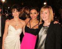 Lizzy Caplan, Jessica Lucas and Sherryl Clark at the premiere of