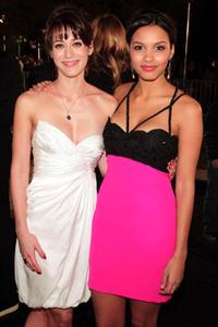 Lizzy Caplan and Jessica Lucas at the premiere of