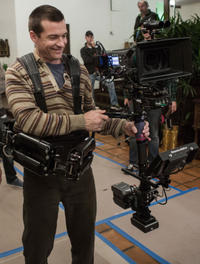 Director Jason Bateman on the set of