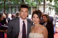 Jason Bateman and Amanda Anka at the Paris premiere of