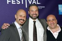 Maz Jobrani, Ahmed Ahmed and Omid Djalili at the Doha Tribeca Film Festival premiere of