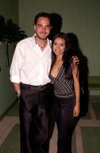 Manolo Cardona and Paola Rey at the 2002 Billboard Latin Music Awards Reception.