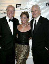 Sir Michael Caine, Andrea Marcovicci and Steve Martin at the Film Society of Lincoln Centers 2004 Gala Tribute to Sir Michael Caine.