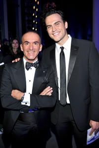 Paolo Diacci and Cheyenne Jackson at the 2nd Annual amfAR Inspiration Gala in New York.