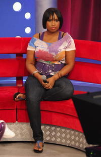 Jennifer Hudson at the BET's 106 and Park.