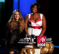 Sarah Jessica Parker and Jennifer Hudson at the 17th Annual MTV Movie Awards.
