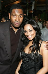 Actor Mykelti Williamson and Lauren London at the Hollywood premiere of