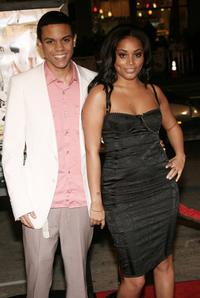 Evan Ross and Lauren London at the premiere of