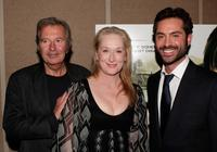 Bob Shaye, Meryl Streep and Omar Metwally at the Los Angeles premiere of