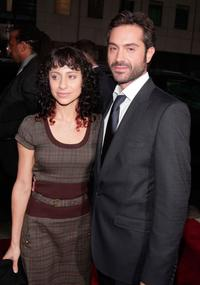 Omar Metwally and Guest at the Los Angeles premiere of