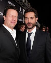 Director Gavin Hood and Omar Metwally at the Los Angeles premiere of