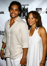 Ramon Rodriguez and Rosie Perez at the after party of the screening of
