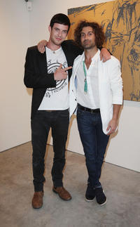 Harry Treadaway and artist Todd DiCiurcio at the Todd DiCiurcio