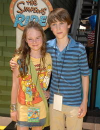 Madeline Carroll and Sterling Beaumon at the opening of
