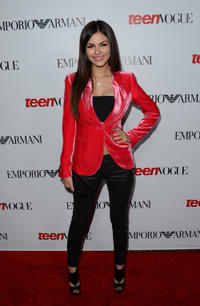 Victoria Justice at the Teen Vogue's 10th Anniversary Annual Young Hollywood party in California.