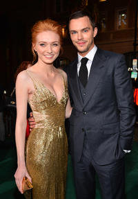 Eleanor Tomlinson and Nicholas Hoult at TCL Chinese Theatre for the premiere of