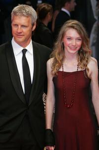 Neil Burger and Eleanor Tomlinson at the screening of