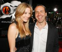 Sarah Roemer and Director D.J. Caruso at the premiere of