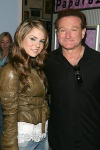 Joanna 'Jojo' Levesque and Robin Williams at the MTV's Total Request Live.