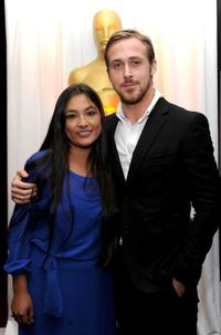 Magaly Solier and Ryan Gosling at the 82nd Annual Academy Foreign Language Film Award Directors Reception.