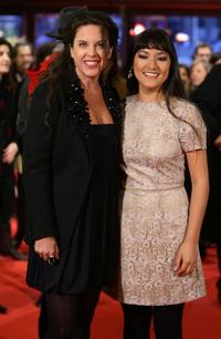Claudia Llosa and Magaly Solier at the premiere of