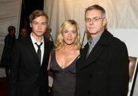 David Kross, Kate Winslet and Director Stephen Daldry at the premiere of