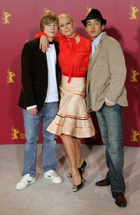 David Kross, Jenny Elvers-Elbertzhagen and Inanc Oktay Oezdemir at the photocall of