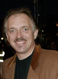 Rik Mayall at the premiere of