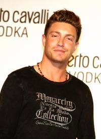 Lane Garrison at the U.S. launch Of Roberto Cavalli Vodka.