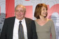 Nathalie Baye and Claude Chabrol at the Berlinale Film Festival.