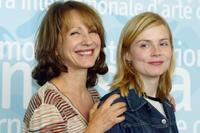 Nathalie Baye and Isabelle Carre at the photocall of Noemie Lvovsky's film