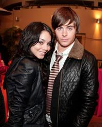 Vanessa Hudgens and Zac Efron at the afterparty celebrating DVD release of