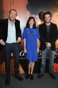Francois Damiens, Audrey Tautou and Pio Marmai at the Paris premiere of
