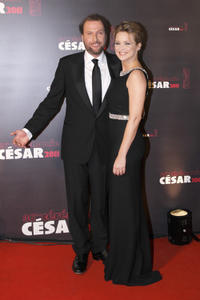 Francois Damiens and Virginie Efira at the 36th Cesar Awards Ceremony in Paris.