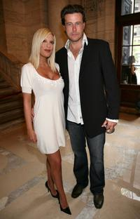 Tori Spelling and Dean McDermott at the Jill Stuart 2008 Fashion Show during the Mercedes-Benz Fashion Week Spring 2008.