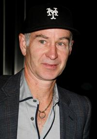 John McEnroe at the launch party for Players Club Magazine.