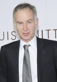 John McEnroe at the Louis Vuitton gala opening of the