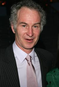 John McEnroe at the Vanity Fair party during the Tribeca Film Festival.