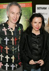 John McEnroe and his wife Patty Smythe at the premiere of