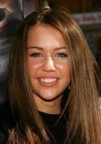 Miley Cyrus at the Hollywood premiere of