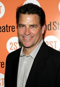 Ted McGinley at the play opening night of