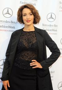 Jennifer Beals at Mercedes Benz Fashion Week.